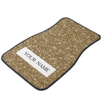 Gold Glitter Printed Car Floor Mat