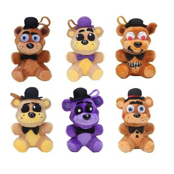 14cm   at  Toy Sister Location Nightmare Shadow Freddy Bear Stuffed Plush Pendant  Keychain Doll Toys