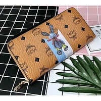 MCM 2018 counters new fashion trendy quilted leather to create a good quality wallet F-AGG-CZDL Brown