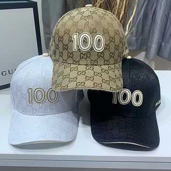 GUCCI Embroidery peaked cap