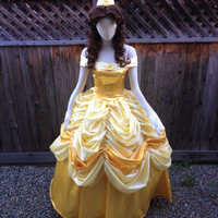 Belle Beauty and the Beast Adult Costume Gown Version Q Cosplay