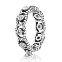 Pandora Her Majesty with Clear CZ Ring