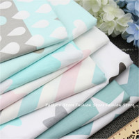 Twill 8 pcs Cartoon Star and Wave Cotton Fabric DIY Patchwork Sewing Kids Bedding Bags Cloth Textiles sheet Fabric 40*50cm