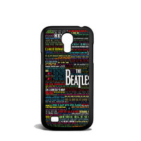 the beatles typography song lyric Samsung Galaxy S4 Mini Case
