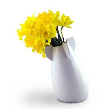 A Peaceful Bomb Vase - White