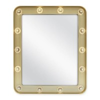 Mini Marquee 10-Inch x 13-Inch Rectangular Mirror in Gold