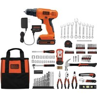 Black and Decker 20V Lithium Drill/Driver with 128-Piece Project Kit - Walmart.com