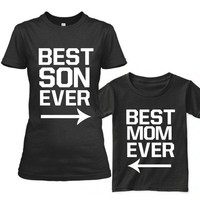 Mommy and Me Best Son Ever Tshirt Set