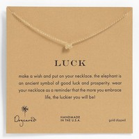 Women's Dogeared 'Whispers - Luck' Boxed Pendant Necklace