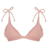 Made By Dawn Traveler ruffle-trimmed triangle bikini top