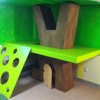 Indoor tree house play structure by designfabpdx on Etsy