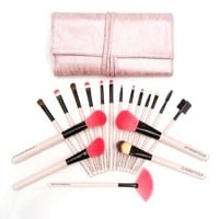 Cosmetic Makeup Brushes Set Knit with Case Bag