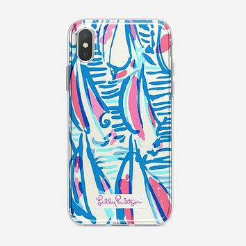 Lilly Pulitzer Resort White Red Right Return Inspired iPhone X Case