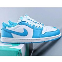 NIKE hot sale new couple stitching color low-top casual sneakers