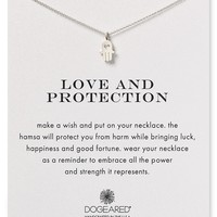 Dogeared Love & Protection Hamsa Necklace, 18""