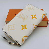 LV Louis Vuitton Color-changing Printed Letters Long Clutch Wallet Bag