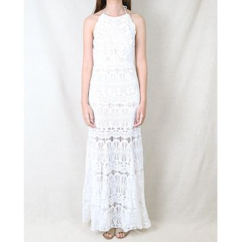 Everlasting Moments Fishtail Maxi Dress in Ivory