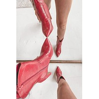 CHINESE LAUNDRY Everly Red Congo Croc Bootie