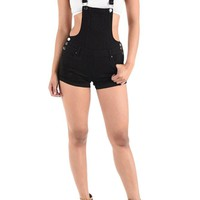 Women's Ripped Cutoff Shorts Overalls