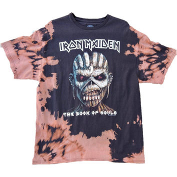 "Hand Bleached Iron Maiden ""Book of Souls"" Band Tee"