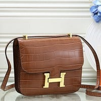 Hermès Women Fashion Leather  Handbag Crossbody Shoulder Bag