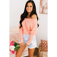 Sky Child Dolman Sleeve Top (Peach)