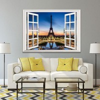 Wall art picture building poster decoration Canvas painting Wall Art Picturer prints Outside the Window  home decor no frame