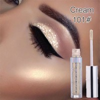 PHOERA Metallic Diamond Pearly Water Glitter Eyeshadow Eyeliner Sparkling Party Radiant Liquid Eyeshadow Sombra Paleta De Sombra