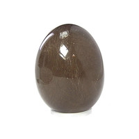 Gemstone Egg, Polished Rutilated Quartz, Natural semiprecious Rock Crystal mineral Crystalline Decor, Geology Gem stone carving, 2+  inches