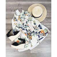 final sale - x shophearts - bohemian day dress - tropical print
