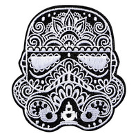 Loungefly Star Wars Stormtrooper Sugar Skull Helmet Iron-On Patch