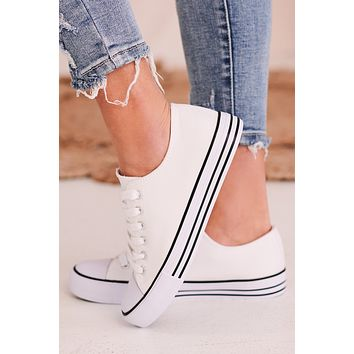 Vendetta Lace Up Sneakers (White)
