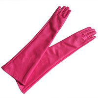 Women  Opera Evening Party Gloves 7 Colors Faux Leather PU Over Elbow Long Glove 2017 New