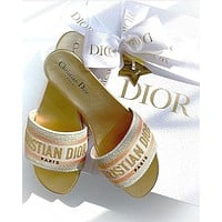 Dior DWAY MULE IN EMBROIDERED COTTON