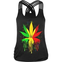 Summer Galaxy A Piece Of Leaf 3d Print Tank Top