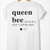 [queen bee] solid color short-sleeved T-shirt