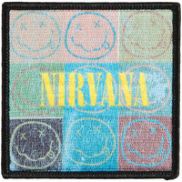 Nirvana Men's Patchwork Embroidered Patch Black