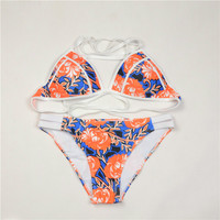 Printing Floral Cute Bikini Swimsuit Beach Wear Bathing Suit