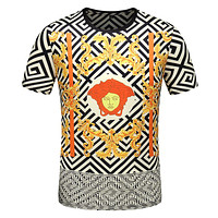 VERSACE Fashiom Men Casual Print T-Shirt Top Tee