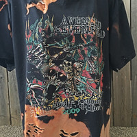 Cool Avenged Sevenfold,size xl, grunge , distressed, bleached band shirt