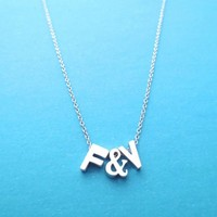 Personalized, Capital, Letter & Letter, Gold, Silver, Necklace