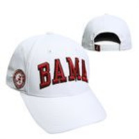 NCAA Alabama Crimson Tide White Adjustable Hat