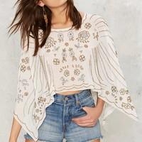 Nasty Gal Bead For Real Embellished Cape