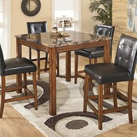Theo Counter Height Dining Room Table and Barstools (Set of 5)