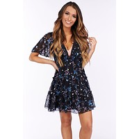 Remington Floral Dress (Navy/Multi)