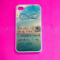 iphone 4 Case iPhone 4s case  cute Forever love by KrezyCase