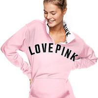 Campus Quarter-Zip Tunic - PINK - Victoria's Secret