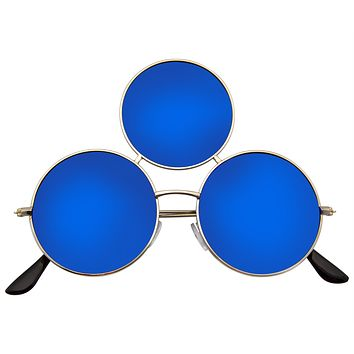 Third Eye Sunglasses Triple Round Circle Sunglasses