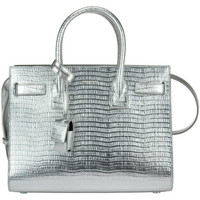 Saint Laurent Ysl Silver Effect Baby Sac De Jour Bag
