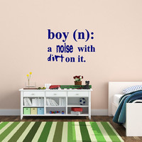 Wall Decal Boy Definition Noise with Dirt Dictionary Nursery Vinyl Decal 22448